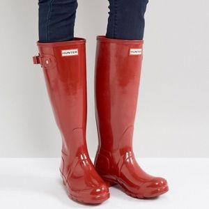 Hunter Org Gloss Tall Rain Boots (AS IS)